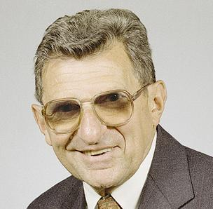 The late Penn State football coach Joe Paterno.