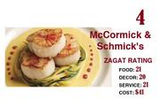#4: McCormick & Schmick's, 2667 Sidney St., Pittsburgh and 301 Fifth Ave., Pittsburgh