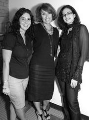 Ashlee Mauti, left, Gerri Scibetta and Natasha Nagpal attended the Girlfriend Recovery Club Wine Tasting held Sept. 11, at Bedford Square, South Side. The party celebrated the launch of the organization's Web site, www.girlfriendrecoveryclub.com.