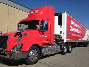 Giant Eagle has ordered several trucks with compressed natural gas engines.