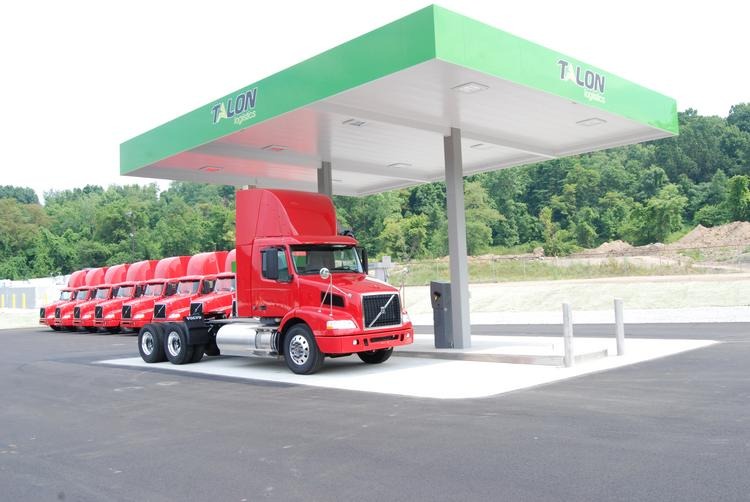A Giant Eagle compressed natural gas filling station in the Pittsburgh region. A separate and unrelated company plans four CNG stations open to the public along I-79 south of Washington, Pa., one in Mount Morris and the other three in West Virginia.