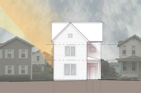 A rendering of the 1,800 square foot, three bedroom Passive House being constructed in Heidelberg Borough by Action Housing.