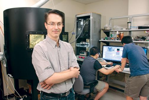 Jeremy Levy, a physics and astronomy professor at Pitt, leads a research  team working on projects needed to harness quantum mechanics principles  within computers.