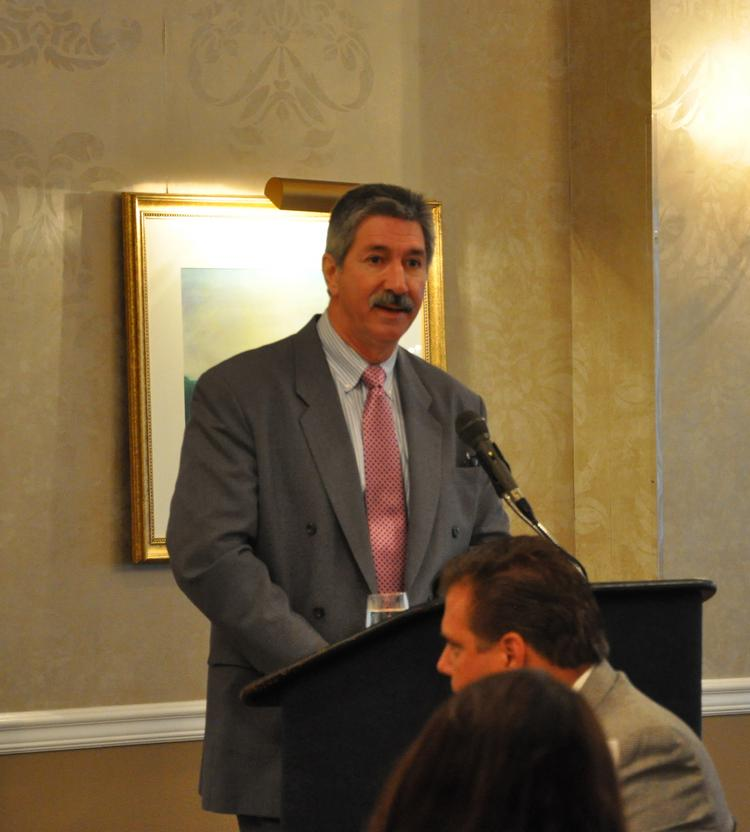 U.S. Steel CEO-in-waiting Mario Longhi was the featured speaker at the Pittsburgh Technology Council's Breakfast Briefing, held at the Rivers Club August 22.