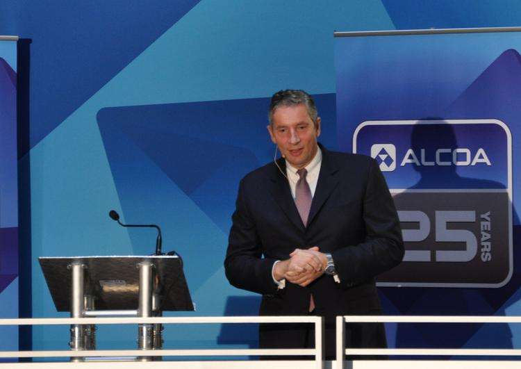 Alcoa Inc. Chairman and CEO Klaus Kleinfeld was in Pittsburgh Monday to mark the company's 125th anniversary.