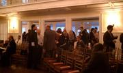 Networking before the elevator pitch competition at Enterprise Forum Pittsburgh.