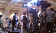More from the press pen. Some early interviews.