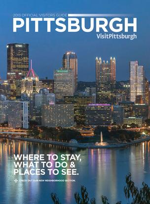 The cover of the VisitPittsburgh 2013 Pittsburgh Business Times Visitors Guide.
