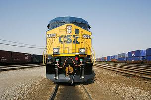 CSX Transportation Koppers railroad train