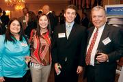 From left: Natalie Shearer of Civil & Environmental Consultants, Denice Shilling of Pittsburgh Cultural Trust, Ryan Dreliszak of Bayer and Don Orlando of Saint Vincent College networked at the Pittsburgh Business Times' 2012 Book of Lists reception Jan. 23 at the Rivers Club in Downtown Pittsburgh.