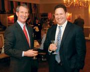 Peter Mathieson, left, of Guyasuta Investment Advisors networked with Philip Goldblum of Goldblum Sablowsky LLC at the Pittsburgh Business Times' 2012 Book of Lists reception Jan. 23 at the Rivers Club in Downtown Pittsburgh.