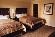 An updated double room at the Omni William Penn, Downtown.