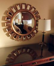 Some of the new furnishings in a double room at the Omni William Penn, Downtown.