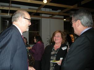 Networking at Contemporary Craft in the Strip District of Pittsburgh during the March 1, 2012, Biz Mix by the Pittsburgh Business Times.