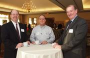 From left: Jim Livingstone of T M Business Brokers, Steve Bertenthal of D.H. Bertenthal & Sons Inc. and Jack Carroll of Carroll Concepts at the Business for Breakfast event the Pittsburgh Business Times held Wednesday, March 21, 2012, at the Southpointe Golf Club.