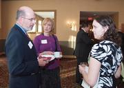 From left: Gerald Kuncio of Skelly & Loy Inc., Donna Baran of James Gallery and Julia Johnson of Louis Plung & Co. at the Business for Breakfast event from the Pittsburgh Business Times held Wednesday, March 21, 2012, at the Southpointe Golf Club.