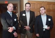 From left: Philip Henry of Henry Wealth Management, Ed Burgess of Weekend Warrior Promotional Products and Dave Paolicelli of AEC Group Inc. at the Business for Breakfast event from the Pittsburgh Business Times held Wednesday, March 21, 2012, at the Southpointe Golf Club.