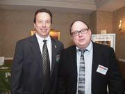 Earl Martin of First Commonwealth Bank, left, and Martin McGough of Campos Inc.
