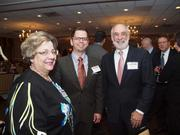 From left: Bernadette Puzzuole of Rothman Gordon,Dean Hastings of MultiPrint Media Inc. and Mel Solomon of Tri-Arc.