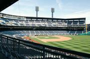 A front-row view from the Budweiser Bowtie Bar, a new addition to PNC Park for the 2012 season.