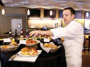 ARAMARK Executive Chef Richard Montini highlights new food options available to fans in PNC Park's Hall of Fame Club and throughout the ballpark on April 3, 2012, at a media event.