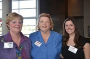 From left: Autumn Edmiston of RevUp Marketing, Betty Karleski of Brentwood Bank and Courtney Bannon of Picture This.