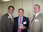 From left: Scott Snyder of American Red Cross in Butler County, Christopher Martin of Northwest Savings Bank and Ben Jamieson of Northwest Savings Bank at the Pittsburgh Business Times' Corridors of Opportunity event Monday, June 10, 2011, at the Westinghouse Electric Co.'s headquarters in Cranberry Township.
