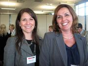 Maria Smathers of NexTier Bank, left, and Karen Brackett of NexTier Bank, at the Pittsburgh Business Times' Corridors of Opportunity event Monday, June 10, 2011, at the Westinghouse Electric Co.'s headquarters in Cranberry Township.
