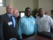 From left: Kevin Wiggins of Thorp, Reed & Armstrong, William K. Motley of The Duggan Rhodes Group and Nicholas Trotter of UPS at the Pittsburgh Business Times' Corridors of Opportunity event Monday, June 10, 2011, at the Westinghouse Electric Co.'s headquarters in Cranberry Township.