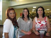 From left: Amy Smith of Carload Express, Christina E. Bochy of Dunbar, Bender & Zapf Inc., and Debi Arnett of Expert Data Labs at the Pittsburgh Business Times' Corridors of Opportunity event Monday, June 10, 2011, at the Westinghouse Electric Co.'s headquarters in Cranberry Township.
