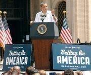 President Obama speaks at Carnegie Mellon University.