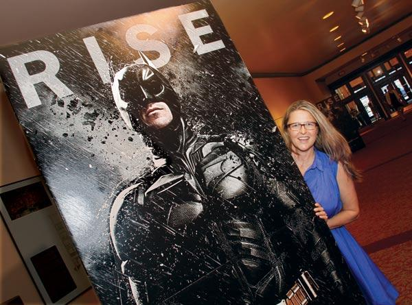 """Pittsburgh Film Office director Dawn Keezer attended the private screening of """"The Dark Knight Rises"""" on July 17, 2012, at the Byham Theater in downtown Pittsburgh."""