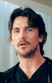"Christian Bale, star of ""The Dark Knight Rises"" that is filming in July and August in Pittsburgh, talks at a news conference Thursday, July 28, in Pittsburgh."