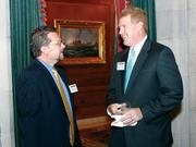 Dave Andrews, left, of Newton Consulting and Brian Gongaware of McKinley Carter Wealth Services network at the Pittsburgh 100 reception held Aug. 25, 2011 at the Duquesne Club.