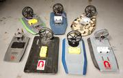 Six versions of the Platypus robotic airboats.