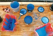Rink Specialists employees use about 350 gallons of white paint, as well as 10 gallons of red paint, and five gallons of blue paint.