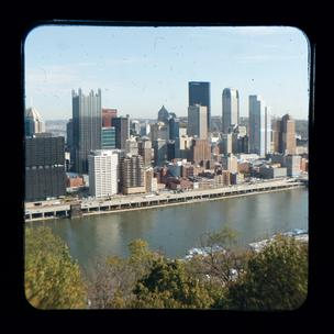 Downtown Pittsburgh, as seen from a Mount Washington overlook