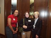 From left: Felicia Thomas of Sci-Tek Consultants in Pittsburgh, Lauren Formato of UPMC WorkPartners in Pittsburgh, and Susan Stocker of UPMC WorkPartners on Wednesday at the Pittsburgh Business Times Corridors of Opportunity event at the Westin Convention Center Hotel in Downtown Pittsburgh.