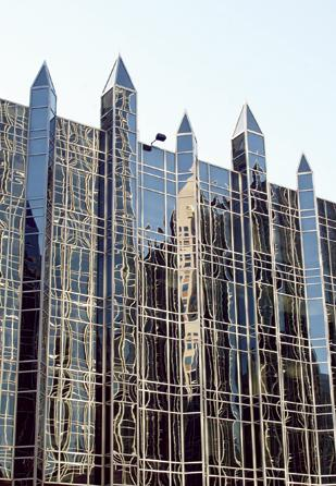 One PPG Place in downtown Pittsburgh