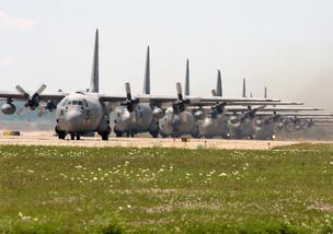 C-130s stationed at 911th Air Wing