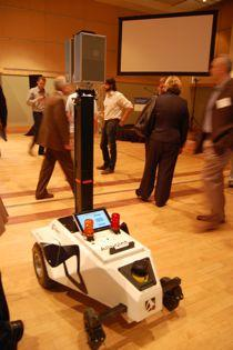 At last year's Innovation Works Investor Day Allpoint brought one of it's robots to the party. This robot is used to gather data to map a space. The company was one  of nine Innovation Works portfolio companies was invited to pitch to  investors that day.