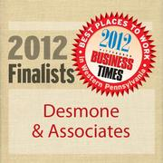 Desmone & Associates Inc. is a finalist in the 2012 Best Places to Work in Western Pennsylvania Awards, sponsored by the Pittsburgh Business Times.