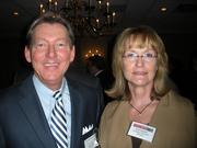 Gary Basilone of Basilone Office Staffing Solutions and Dotti Bechtol of Fragasso Financial Advisors at the Pittsburgh Business Times' 2012 Book of Lists reception Jan. 23 at the Rivers Club in Downtown Pittsburgh.