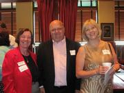 From left: Joyce Kane of Cybertary Pittsburgh, Michael Cross and Vicki Cherney of the Western Pennsylvania School for the Deaf on Wednesday, July 13, at the Business for Breakfast networking event held at McCormick & Schmick's Restaurant on the South Side in Pittsburgh. The event was sponsored by Horovitz, Rudoy & Roteman LLC and McCormick & Schmick's and presented by the Pittsburgh Business Times.