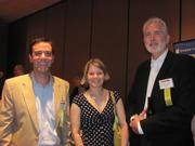 From left: James Joseph of Spilman Thomas & Battle, PLLC, Allison Carr of Spilman Thomas & Battle, PLLC and Nat Hunter of Spilman Thomas & Battle, PLLC  on Thursday, Aug. 4, at PNC Park in Pittsburgh for the Pittsburgh Business Times' BizMix networking event.