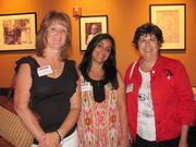From left: Joyce Luck of First Commonwealth Bank, Geetika Tandon of Plum Borough's Minuteman Press and Carol Manson of Innova Benefit Services on Thursday, Aug. 4, at PNC Park in Pittsburgh for the Pittsburgh Business Times' BizMix networking event.