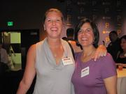 Theresa Morrissey, left, of Allegheny Valley Bank, and Lisa Wenntersten of FiveStar Development, on Thursday, Aug. 4, at PNC Park in Pittsburgh for the Pittsburgh Business Times' BizMix networking event.