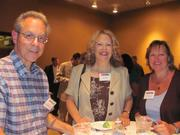 From left: William Tarlo of WMT Financial Services, Susan Rose and Carol Uminski  on Thursday, Aug. 4, at PNC Park in Pittsburgh for the Pittsburgh Business Times' BizMix networking event.