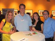 From left: Stephanie Solomon of BurnsWhite LLC, Mike Cremonese of BurnsWhite, Alice Sande of Horovitz Rudoy & Roteman LLC and John Petrancosta of Horovitz Rudoy & Roteman LLC on Thursday, Aug. 4, at PNC Park in Pittsburgh for the Pittsburgh Business Times' BizMix networking event.