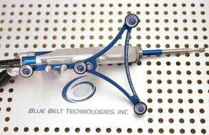 A Navio system surgical device from Blue Belt Technologies that incorporates precision freehand sculpting technology for use in orthopedic and neurosurgery procedures.